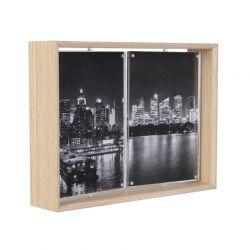 Ξύλινη Περιστρεφόμενη Κορνίζα 2 Θέσεων 17 x 5.1 x 22.2 cm Home Deco Factory HD4235