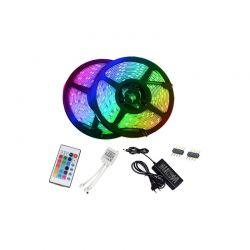 Αυτοκόλλητη Ταινία LED 5 m RGB 2835 με Τηλεχειριστήριο 12V SPM 5908222221447-2835