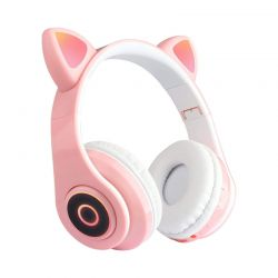 Ασύρματα Ακουστικά Bluetooth Γάτα Χρώματος Ροζ SPM B39-Pink