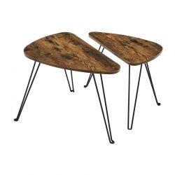 Σετ Μεταλλικά Βοηθητικά Τραπέζια Nesting 60 x 38 x 47.5 cm 2 τμχ VASAGLE LNT012B01