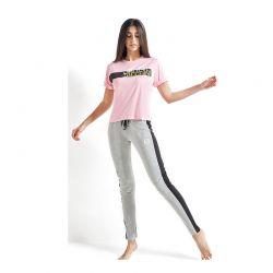 Γυναικεία Καλοκαιρινή Πυτζάμα Sergio Tacchini Χρώματος Ροζ PG34225-AS-PINK