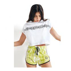 Γυναικεία Καλοκαιρινή Πυτζάμα Sergio Tacchini Χρώματος Λευκό PG34239-AS-WHITE