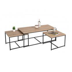 Σετ Μεταλλικά Τραπέζια Nesting 113 x 60 x 45 cm 3 τμχ Memphis Idomya 30080073