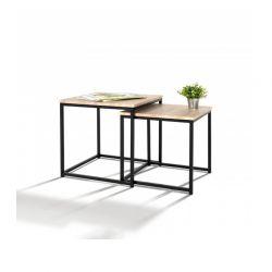 Σετ Μεταλλικά Βοηθητικά Τραπέζια Nesting 53 x 53 x 41 cm 2 τμχ Memphis Idomya 30080069