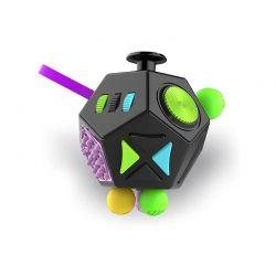Fidget Cube Anti Stress με 12 Πλευρές Χρώματος Μαύρο SPM DYN-5059059040609