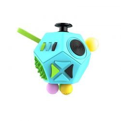 Fidget Cube Anti Stress με 12 Πλευρές Χρώματος Μπλε SPM DYN-5059059040616