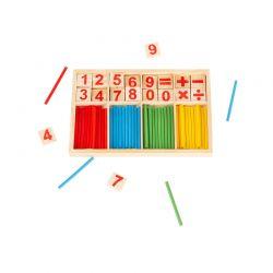 Εκπαιδευτικό Ξύλινο Παιχνίδι Εκμάθησης Μαθηματικών Montessori SPM DB5824
