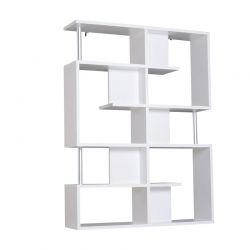 Ξύλινη Βιβλιοθήκη με 5 Επίπεδα 160 x 28.6 x 120 cm Χρώματος Λευκό HOMCOM 833-554WT