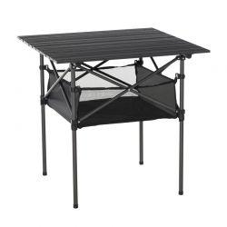 Πτυσσόμενο Μεταλλικό Τραπέζι Κάμπινγκ με Υφασμάτινο Καλάθι 70 x 70 x 69 cm Outsunny 84B-567