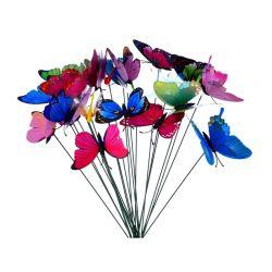Σετ Διακοσμητικές Πεταλούδες Κήπου 24 τμχ SPM DYN-5059059090604
