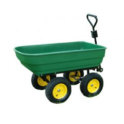 Ρυμουλκούμενο Καρότσι Κήπου με Ανατροπή 125 Lt Outsunny 5662-0362
