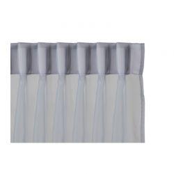 Σετ Κουρτίνες με Τρέσα 150 x 250 cm Χρώματος Γκρι 2 τμχ Lifa-Living 8720195383574