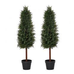 Σετ Τεχνητά Φυτά Πεύκα 120 cm 2 τμχ Outsunny 844-358