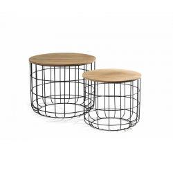 Σετ Βοηθητικά Μεταλλικά Τραπέζια 50 x 40 cm 2 τμχ Tore Lifa-Living 8715342016979