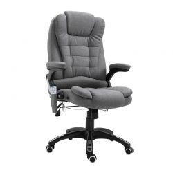 Καρέκλα Γραφείου Μασάζ 7 Σημείων με Τηλεχειριστήριο Χρώματος Σκούρο Γκρι Vinsetto 921-171V70GY