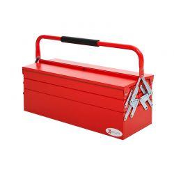 Μεταλλική Εργαλειοθήκη 5 Θέσεων 57 x 21 x 41 cm Χρώματος Κόκκινο DURHAND B20-079V01RD