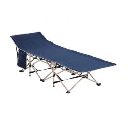 Πτυσσόμενη Μεταλλική Ξαπλώστρα - Κρεβάτι 190 x 68 x 52 cm Χρώματος Μπλε Outsunny A20-116BU
