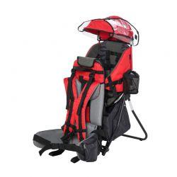 Σακίδιο Μεταφοράς Παιδιού με Προστατευτικό Κάλυμμα Βροχής Χρώματος Κόκκινο HOMCOM 430-002RD