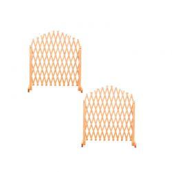 Σετ Ξύλινες Ρυθμιζόμενες Πέργκολες 150 cm 2 τμχ Hoppline HOP1001196