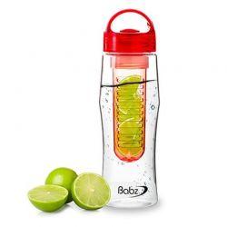 Μπουκάλι με Αποσπώμενο Φίλτρο για Φρούτα Χρώματος Κόκκινο 750 ml Fruit Infuser bottles
