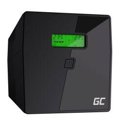 UPS με 2 Schuko Πρίζες και 3 IEC 2000 VA 1400 W Green Cell UPS09