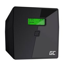 UPS με 4 Schuko Πρίζες και IEC 1500 VA 900 W Green Cell UPS04