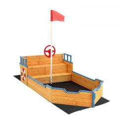 Ξύλινη  Αμμοδόχος Πειρατικό Καράβι 94 x 187 cm Hoppline HOP1001175
