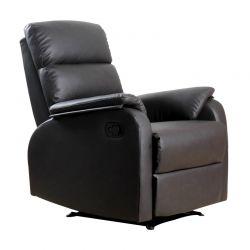 Ανακλινόμενη Πολυθρόνα με Υποπόδιο 75 x 92 x 99 cm HOMCOM 833-386BN