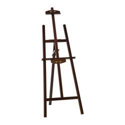 Ξύλινο Αναδιπλούμενο Καβαλέτο Ζωγραφικής 51.5 x 71.5 x 134.5 cm Χρώματος Σκούρο Καφέ HOMCOM 914-020V01CF