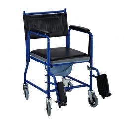 Αδιάβροχο Αναπηρικό Αμαξίδιο με Αφαιρούμενη Τουαλέτα 42 cm Χρώματος Μπλε HOMCOM 713-011