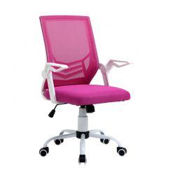 Καρέκλα Γραφείου 62.5 x 55 x 94 -104 cm Χρώματος Ροζ Vinsetto 921-547PK