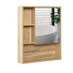 Καθρέπτης Μπάνιου με Ντουλάπι 60 x 15 x 76 cm Kleankin 834-259