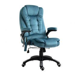 Ανακλινόμενη Καρέκλα Γραφείου Μασάζ 6 Σημείων με Τηλεχειριστήριο 67 x 67 x 116-126 cm Vinsetto 921-171V73BU