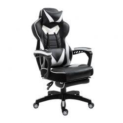 Καρέκλα Gaming με Υποπόδιο 65 x 70 x 118.5-126.5 cm Χρώματος Λευκό Vinsetto 921-237V70WT