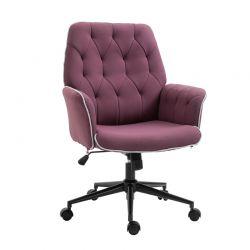Καρέκλα Γραφείου 66 x 69 x 89.5-97 cm Χρώματος Μωβ HOMCOM 921-103VT
