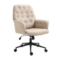 Καρέκλα Γραφείου 66 x 69 x 89.5-97 cm Χρώματος Μπεζ HOMCOM 921-103BN
