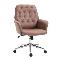 Καρέκλα Γραφείου 66 x 69 x 93.5-101 cm Χρώματος Καφέ Vinsetto 921-103V01CF