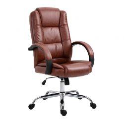 Καρέκλα Γραφείου 71 x 63.5 x 112-122 cm Χρώματος Καφέ Vinsetto 921-137BN