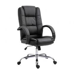 Καρέκλα Γραφείου 71 x 63.5 x 112-122 cm Χρώματος Μαύρο Vinsetto 921-137BK