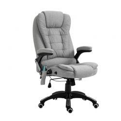 Καρέκλα Γραφείου Μασάζ 7 Σημείων με Τηλεχειριστήριο Χρώματος Γκρι Vinsetto 921-171V72