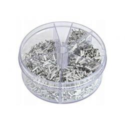Σετ Μύτες Αγωγών Χωρίς Μόνωση 0.5 - 2.5 mm² 1900 τμχ Kraft&Dele KD-10495