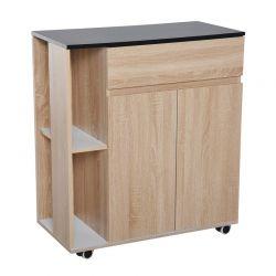 Ξύλινο Τρόλεϊ Κουζίνας 78 x 39.5 x 88.5 cm HOMCOM 801-078