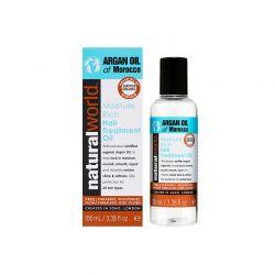 Λάδι Μαλλιών με Argan Oil Of Morocco Moisture Rich Treatment Natural World 100 ml