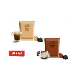 Κάψουλες Bernini Caffe Διπλής Γεύσης Cortado και Σοκολάτας 48+48 Τεμάχια