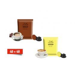 Κάψουλες Bernini Caffe Διπλής Γεύσης Cappucino και Σοκολάτας