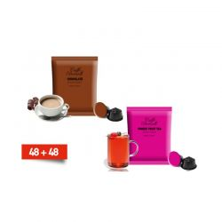 Κάψουλες Bernini Caffe διπλής γεύσης σοκολάτας και τσαι