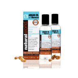 Λάδι μαλλιών moisture rich treatment Natural World 100ml x2