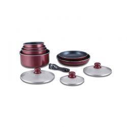 Σετ Μαγειρικής Herzberg 10 τμχ χρώματος μπορντό HG-5000