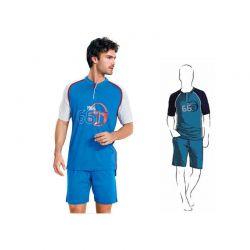 Aνδρική καλοκαιρινή πυτζάμα Sergio Tacchini χρώματος σκούρο μπλε PG24461-AS1