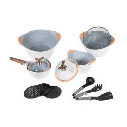Σετ Μαγειρικών Σκευών Cecotec Premium 13τμχ χρώματος λευκό CEC-010350